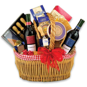 Wine Country Picnic Gift Basket data-pin-no-hover=
