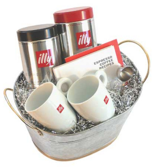 Italian Illy Cafe Basket data-pin-no-hover=