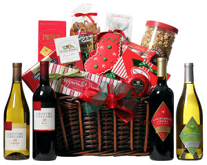 Holiday Festivities Wine Basket data-pin-no-hover=