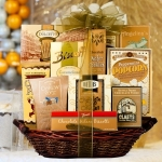 Golden Holiday Treats Basket