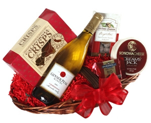 Any Occasion Gourmet Wine Gift Basket data-pin-no-hover=