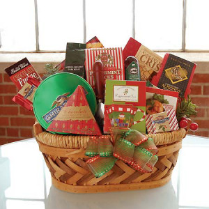 Christmas Wishes Gift Basket data-pin-no-hover=