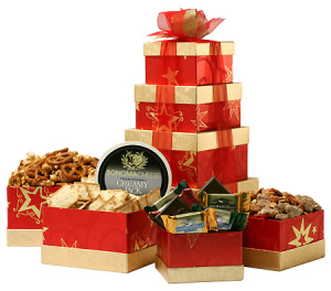 Gold Star Holiday Treat Tower image