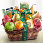 Sympathy Fruit Basket with Cheese & Nuts