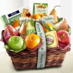 Happy Holidays Fruit and Gourmet Basket