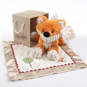 'Fox in a Box' Plush Fox and Lovie Gift Set imagerjs