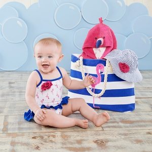 Flamingo Nautical Gift Set with Canvas Tote imagerjs