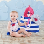 Flamingo Nautical Gift Set with Canvas Tote