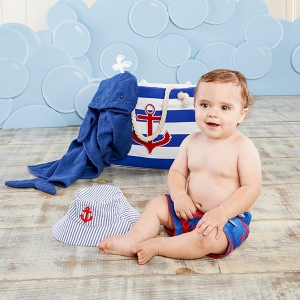 Fun in the Sun Nautical Gift Set with Canvas Tote imagerjs