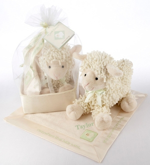 'Love Ewe' Plush Lamb and Lovie Gift Set imagerjs
