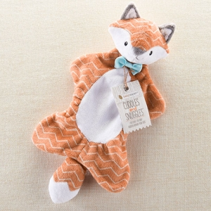 Cuddles and Snuggles Fox Plush Rattle Lovie imagerjs
