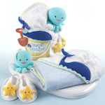 Beach Buddies 3 Piece Bathtime Bucket Gift Set