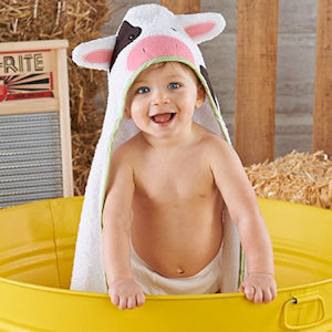 Udderly Adorable Cow Hooded Spa Towel imagerjs