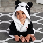 Pampered Panda Hooded Spa Baby Robe