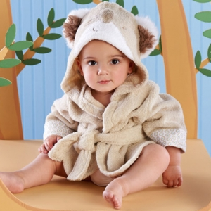 Cuddly Clean Koala Hooded Spa Baby Robe imagerjs