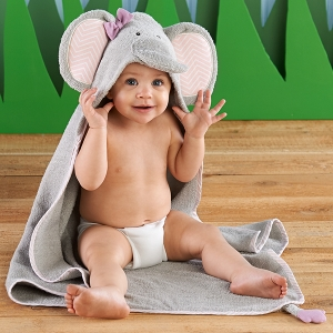 Splish Splash Elephant Hooded Bath Towel imagerjs