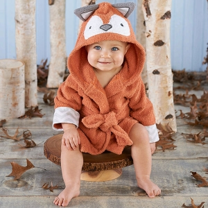 Fox Hooded Baby Spa Robe imagerjs
