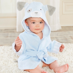Bathtime Bow Wow Puppy Hooded Spa Baby Robe imagerjs