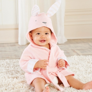 Bathtime Bunny Hooded Spa Baby Robe imagerjs