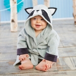 Forest Friends Raccoon Hooded Spa Robe