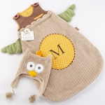 Little Night Owl Infant Snuggle Sack with Cap