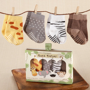 'Sock Safari' Four-Pair Animal-Themed Sock Set imagerjs