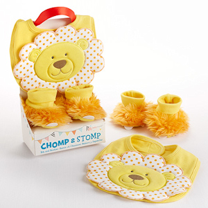 Chomp & Stomp Lion Bib and Booties Gift Set imagerjs