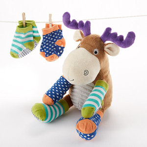 'Moose Tracks' Moose Plush with Socks imagerjs