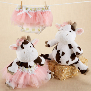 Daisy Lou & Bloomer Too Plush Cow and Bloomer Set imagerjs
