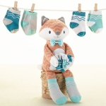 Mr. Fox in Socks Plush & Baby Sock Gift Set