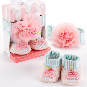Baby Cakes Cupcake Headband and Booties imagerjs