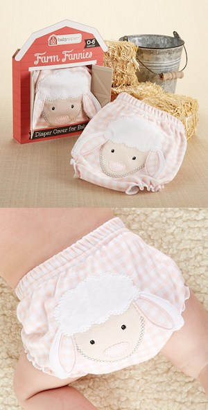 Farm Fannies Pink Sheep Diaper Cover imagerjs