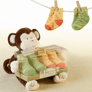 My Little Sock Monkey Plush & Baby Sock Set imagerjs