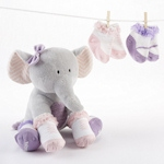 Tootsie in Footsies Plush Elephant and Socks Set