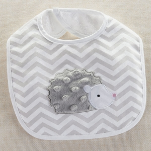 Hedgehugs Grey & White Hedgehog Baby Bib imagerjs