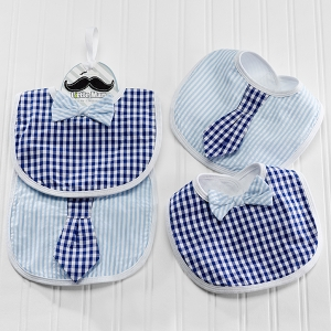 Little Man Baby Bib Gift Set (2 Bibs) imagerjs