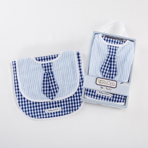 Little Man Bib & Burp Baby Gift Set imagerjs