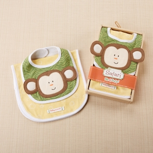 Safari Bib & Burp Baby Gift Set imagerjs