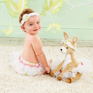 Flora The Fawn Plush with Bloomers and Headband for Baby imagerjs