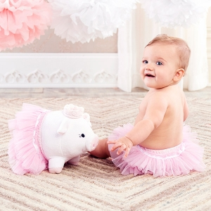 Princess Penelope Plush Pig with Bloomer for Baby imagerjs