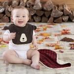 Happy Camper Bib & Burp Set