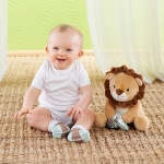 Ryan the Lion Plush Plus Socks for Baby