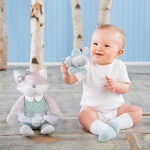 Fiona the Fox Plush Plus with Socks and Rattle for Baby