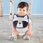 Forest Friends Raccoon Bib and Socks Set