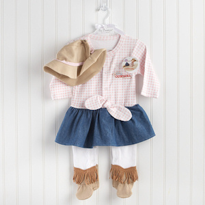 Baby Cowgirl Two Piece Layette Set imagerjs