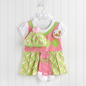 Baby Girl Golfer Three Piece Layette Set imagerjs