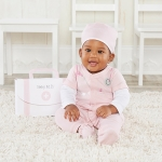 Baby M.D. Three-Piece Pink Doctor Layette Set
