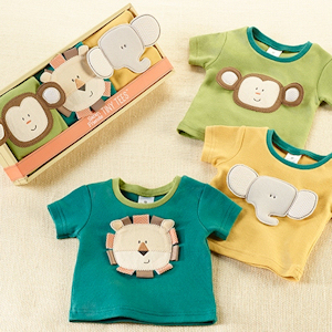 Safari Friends Baby T-Shirt Gift Set imagerjs