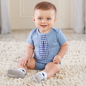 Little Man Baby Bodysuit and Sock Set imagerjs
