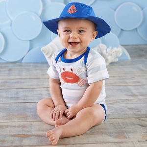Fun in the Sun Baby Bodysuit & Hat Gift Set imagerjs